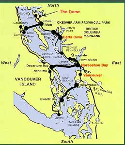 how to change in horseshoe bay for sunshine coast ferry